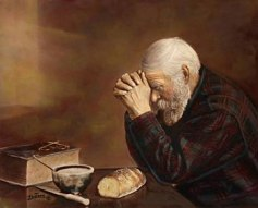 Old Man Praying